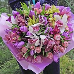 Великий букет з орхідеями 'Розкіш'